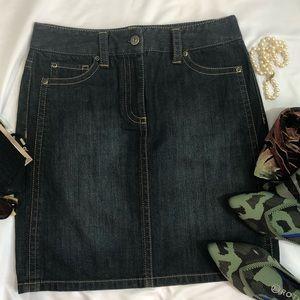 ANN TAYLOR petites Denim Skirt 2P A31